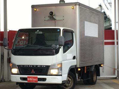 キャンター アルミバン AT車 4WD バックカメラ 無料宅配サービス対象車