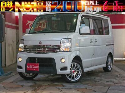 エブリイワゴン PZターボ 両側スライドドア&左パワースライド 多目的に使える軽ワゴン車♪♪♪ もちろん荷物も沢山乗ります♪ ターボで走りも快適♪♪♪ 社外アルミホイール15インチも付いてて見た目もイイです♪♪♪ ドライブレコーダー付き♪♪♪ 月々3万円台✨車検2年付プランあり✨