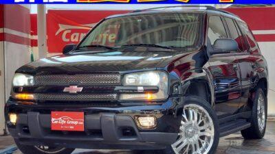 トレイルブレイザー LT ☆総合評価優良車☆ カーライフ初登場!! パートタイム4WD オフロード性能とオンロード性能とを兼ね備えたアメリカンSUV ラゲッジスペース広々で荷物も沢山乗せれます!! 社外アルミホイール20インチ&納車時新品タイヤ!! ☆車検2年付き☆