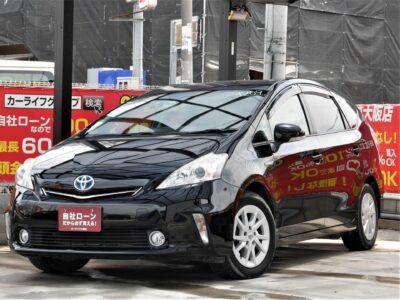 PRIUS α プリウスα S 5人乗りtype 車内を広く使える5人乗りタイプのプリウスα再入荷✨ 圧倒的な低燃費で、トランクルームを広く使えるためお仕事やレジャーにピッタリです📦 carrozzeriaサイバーナビで走行中フルセグTV・DVD視聴可能📺 Bluetoothオーディオも視聴可能です🎵🎶 ナビ連動ドライブレコーダー付きなのでもしもの時でも安心です📸 ARヘッドアップディスプレイで走行中の道案内を快適にサポート📱 万能に使えるハイブリッドステーションワゴンです⛽ 🌜大阪店専用HPにて360°画像💫&動画🎥を随時更新中❗carlifegroup.jp で検索🕵️♂️🌛《1年保証付》