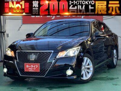 クラウンハイブリッド ✨アスリートS✨ 210型TOKYO店初入庫❕❕❕❕ メディア多彩な純正HDDマルチナビ&左右独立エアコンでロングドライブにも最適(^^)/  レーダークルーズコントロールで高速道路もスイスイ走行できます🎵 HIDヘッドライト&LEDフォグで夜間でも安心の明るさ💡 ハイブリッド車で検討されている方にとにかくオススメしたい1台です